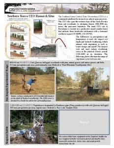 San Joaquin Experimental Range Southern Sierra CZO Research