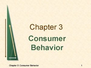 Chapter 3 Consumer Behavior Chapter 3 Consumer Behavior