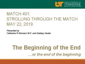 MATCH 401 STROLLING THROUGH THE MATCH MAY 22