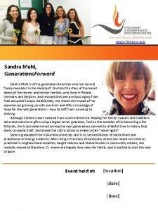 https hhrecny org Sandra Mehl Generations Forward Sandra