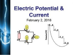 Electric Potential Current February 2 2018 Potential difference