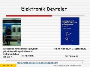 Elektronik Devreler Electronics for scientists physical principles with