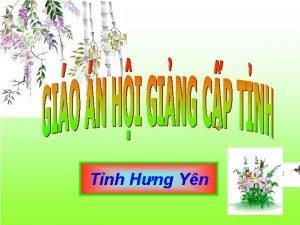 Tnh Hng Yn Gio vin L Thanh Hng