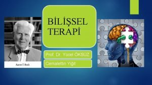 BLSEL TERAP Prof Dr Ycel KSZ Cemalettin Yiit