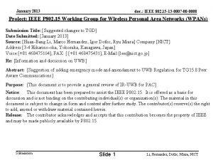 January 2013 doc IEEE 802 15 13 0007
