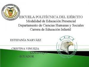 ESCUELA POLITCNICA DEL EJRCITO ESCUELA Modalidad de Educacin