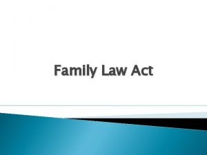 Family Law Act Matrimonial Home A matrimonial home