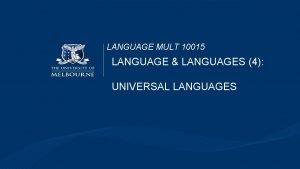 LANGUAGE MULT 10015 LANGUAGE LANGUAGES 4 UNIVERSAL LANGUAGES