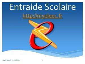 Entraide Scolaire http myeleec fr Entraide Scolaire 1