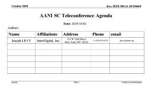 October 2020 doc IEEE 802 11 201560 r