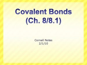Cornell Notes 2110 What weve learned so far