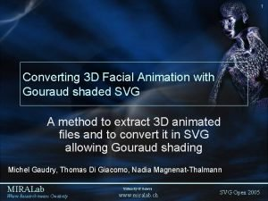 1 Converting 3 D Facial Animation with Gouraud