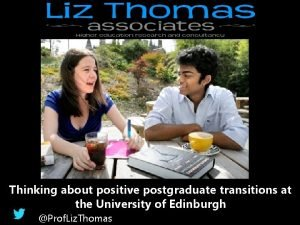 Thinking about positive postgraduate transitions at the University
