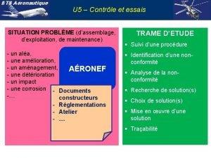 BTS Aronautique U 5 Contrle et essais SITUATION