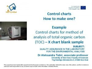 Control charts How to make one Example Control