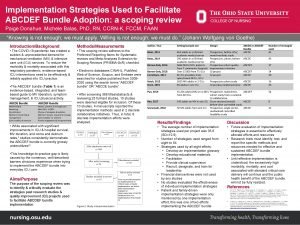 Implementation Strategies Used to Facilitate ABCDEF Bundle Adoption