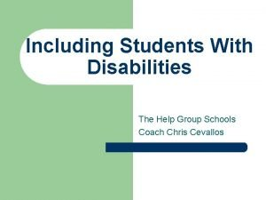 Including Students With Disabilities The Help Group Schools