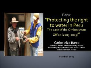 Peru Protecting the right to water in Peru