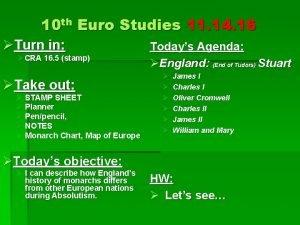 10 th Euro Studies 11 14 16 Turn