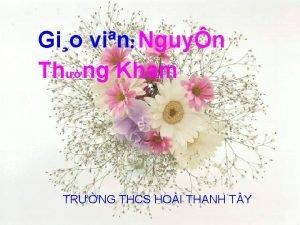 Gio vin Nguyn Thng Kham TRNG THCS HOI