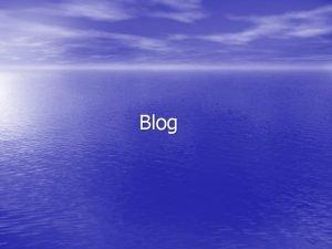 Blog TO JE BLOG Blog dui naziv weblog