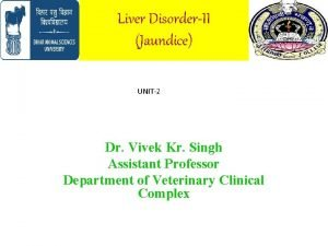 Liver DisorderII Jaundice UNIT2 Dr Vivek Kr Singh