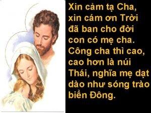 Xin cm t Cha xin cm n Tri