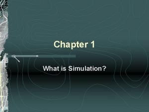 Chapter 1 What is Simulation Whats Simulation Simulation