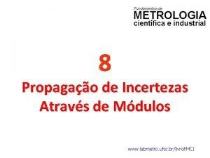 Fundamentos de METROLOGIA cientfica e industrial 8 Propagao