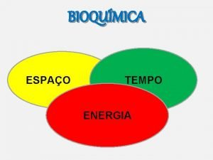 BIOQUMICA ESPAO TEMPO ENERGIA Espao tempo e energia