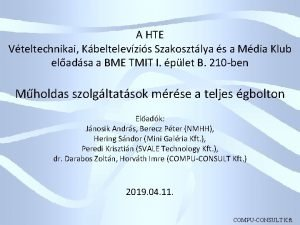 A HTE Vteltechnikai Kbeltelevzis Szakosztlya s a Mdia