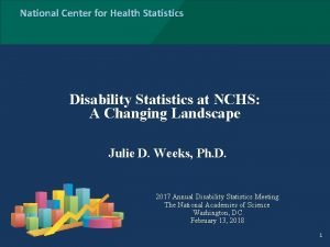 National Center for Health Statistics Disability Statistics at
