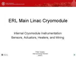 ERL Main Linac Cryomodule Internal Cryomodule Instrumentation Sensors