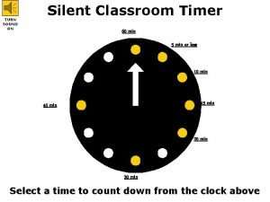 TURN SOUND ON Silent Classroom Timer 60 min