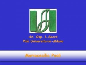 Az Osp L Sacco Polo UniversitarioMilano Mariacecilia Paoli