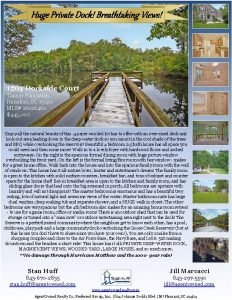 Huge Private Dock Breathtaking Views 1504 Dockside Court