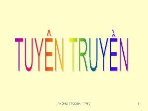 PHNG TTGDSK TPTV 1 MC TIU phng chng