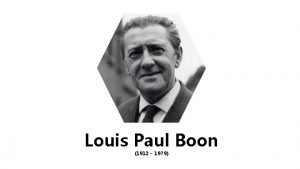 Louis Paul Boon 1912 1979 Louis Paul Boon