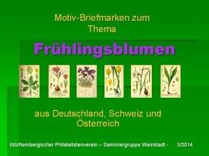 MotivBriefmarken zum Thema Frhlingsblumen aus Deutschland Schweiz und