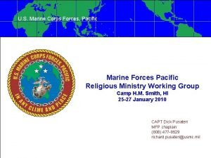 U S Marine Corps Forces Pacific Marine Forces