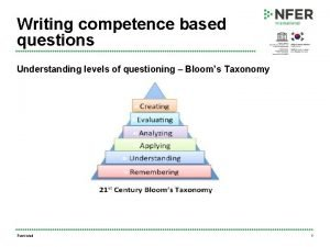 Writing competence based questions Understanding levels of questioning