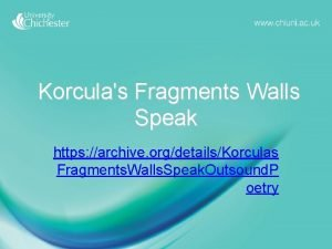 Korculas Fragments Walls Speak https archive orgdetailsKorculas Fragments