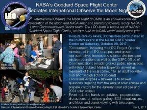 NASAs Goddard Space Flight Center Celebrates International Observe