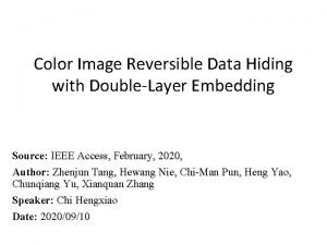 Color Image Reversible Data Hiding with DoubleLayer Embedding