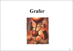 Grafer 1 Graf En graf er et par