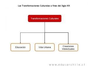 Las Transformaciones Culturales a fines del Siglo XIX