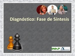 Diagnstico Fase de Sntesis SNTESIS Anlisis Externo Anlisis