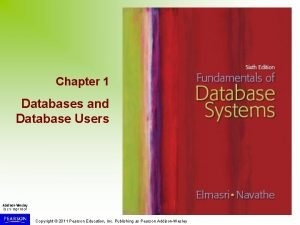 Chapter 1 Databases and Database Users Copyright 2011