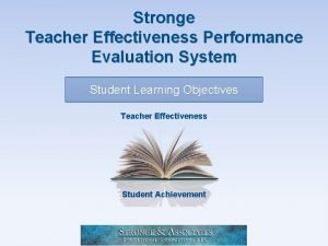 Stronge Teacher Effectiveness Performance Evaluation System Student Learning