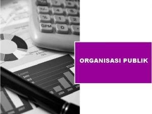 ORGANISASI PUBLIK ENTITAS PUBLIK PEMERINTAH PSAP SEKTOR PUBLIK